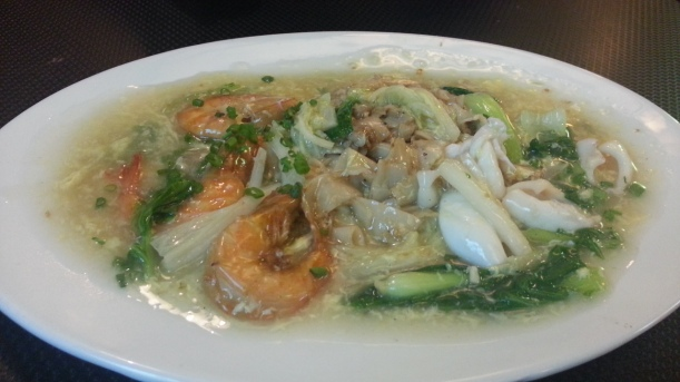 Kue teow fried and sour